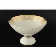 Конфетница на ножке Constanza Cream Imperial Gold