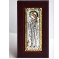 Икона Божьей Матери в серебряном окладе Геронтисса