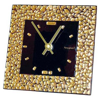 Настольные часы «Золотой квадрат» 150x150 мм