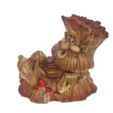 Декоративная садовая фигура Пенек-лесовичок №2