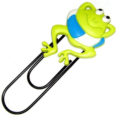 Закладка-скрепка «Лягушка»