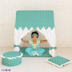 Текстильный домик-палатка с пуфиком Дворец Жасмин
