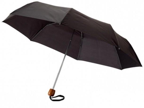 Черный механический зонт