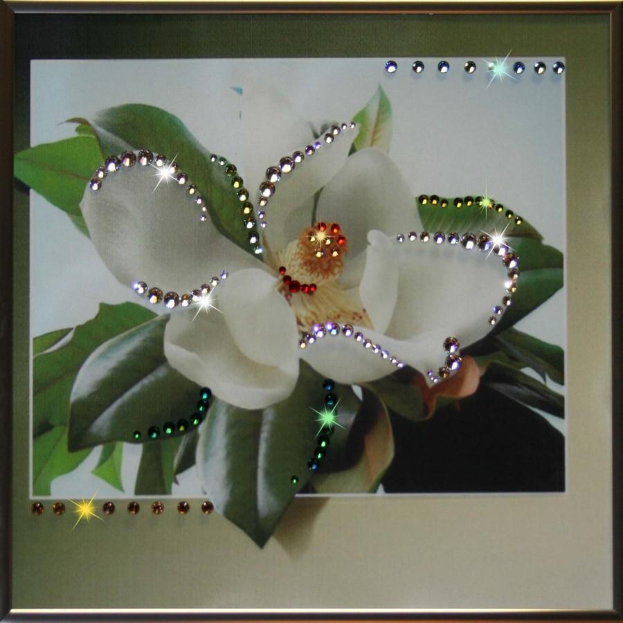 Картина с кристаллами Сваровски Магнолия