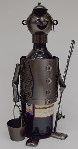 Декор бутылки Рыбак с ведром