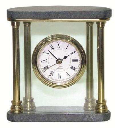 Часы Horse, зеленый мрамор