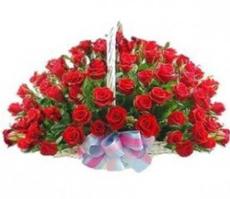 Корзина роз Роскошь