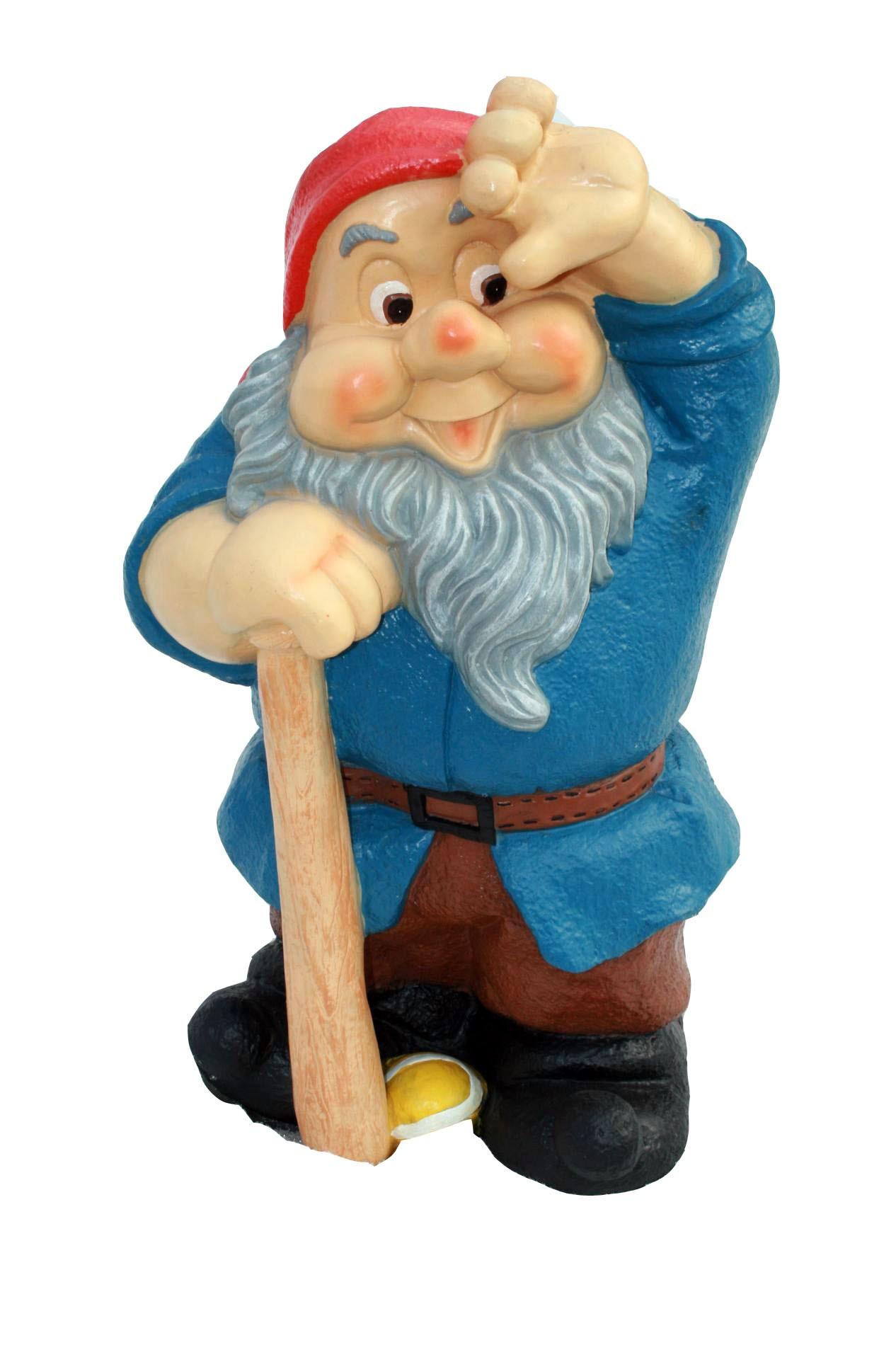 Садовая фигура Гном Бейсболист