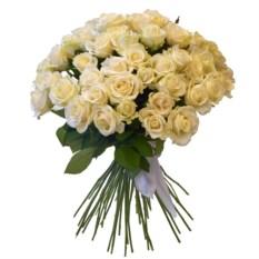 Букет из 51 белой розы высотой 40 см