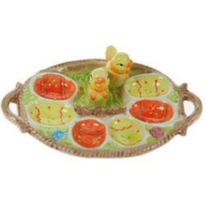 Тарелка под пасхальные яички «Цыплятки»
