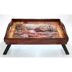 Столик-поднос для завтрака в постель Пейзаж