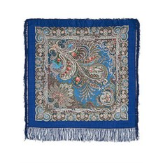 Павлопосадский платок с рисунком У синего моря