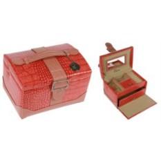 Красно-коричневая шкатулка для ювелирных украшений CALVANI