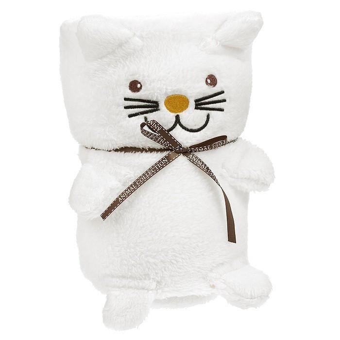 Мягкая игрушка-плед Белый Котик