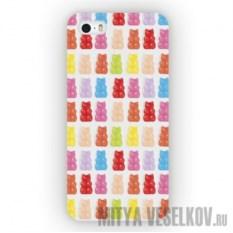 Чехол для iPhone 5 Вкусные Мишки