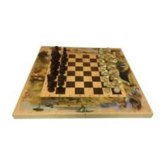 Набор настольных игр (шахматы, шашки, нарды) Сафари