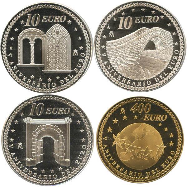 Монета «5-летие введения Евро»