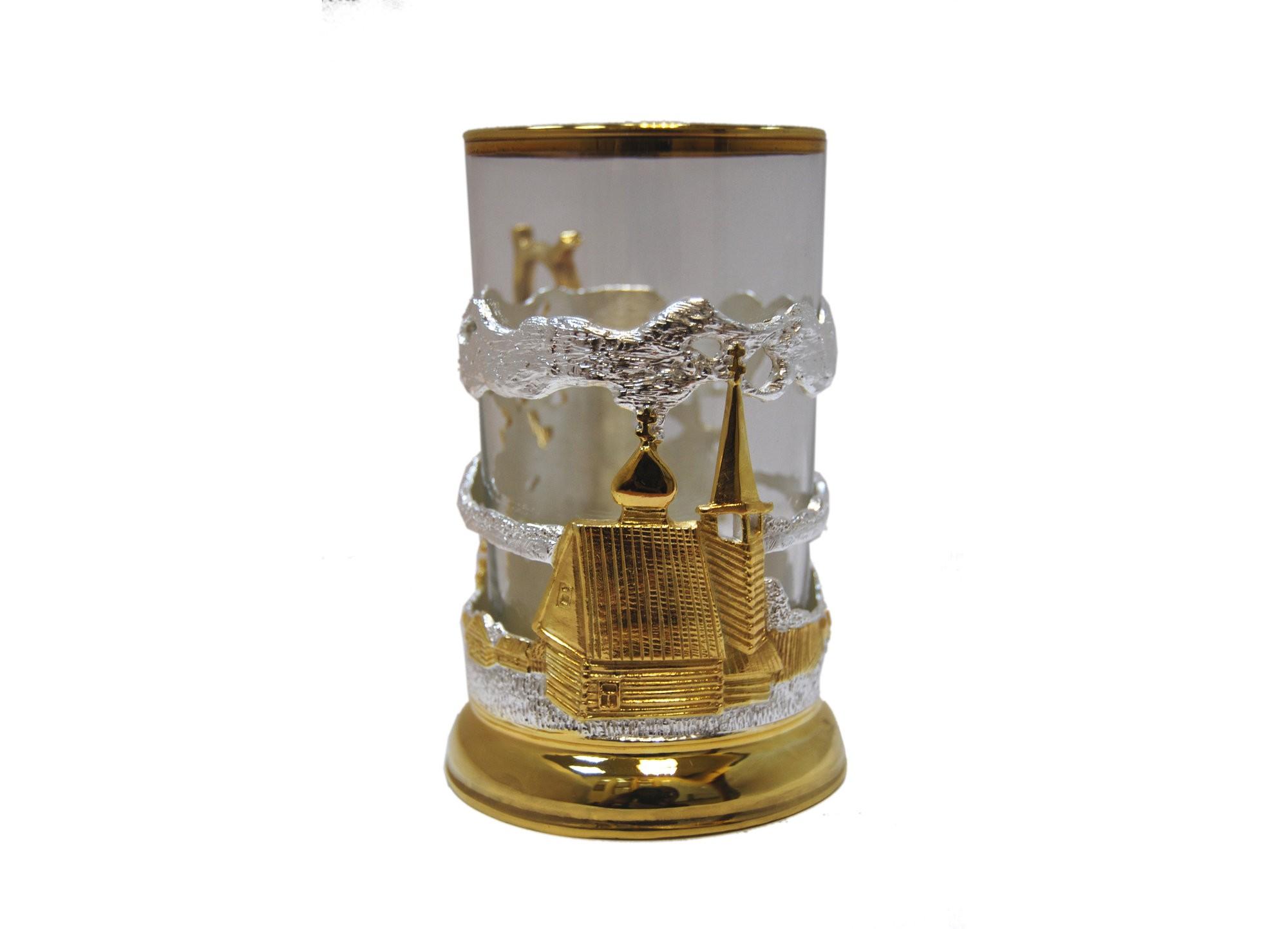 Подарочный подстаканник для чая Российская глубинка