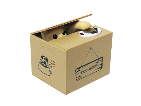 Интерактивная копилка Воришка (Чихуахуа, золотистая)