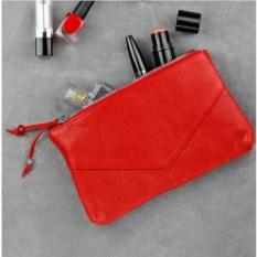 Кожаная косметичка Blanknote (цвет: рубин)
