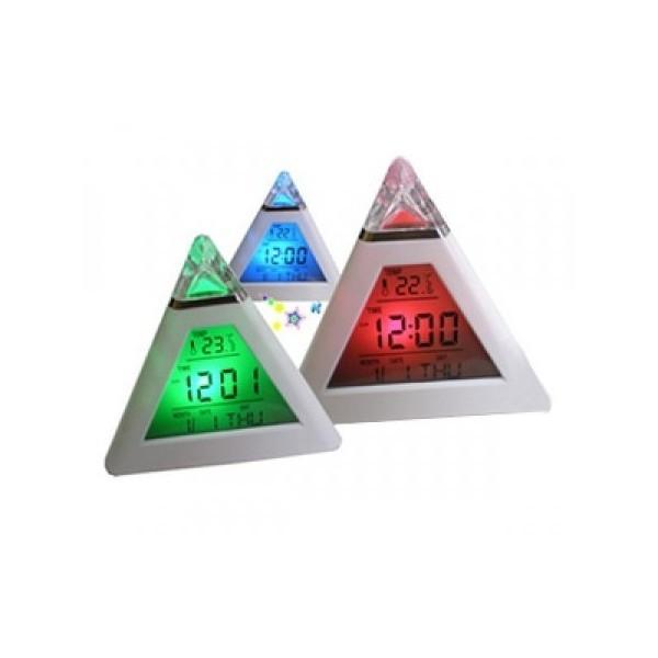 Часы-будильник с подсветкой Пирамида