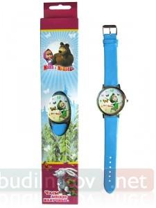 Детские наручные часы Маша и Медведь в металлическом корпусе