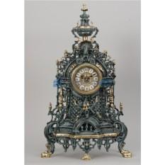 Часы из бронзы Валенсия 58х34 см, цвет синий с золотом