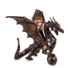 Статуэтка в стиле стимпанк Дракон с шаром