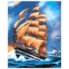 Картина-раскраска по номерам на холсте Сквозь шторм