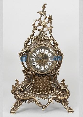 Каштановые часы из бронзы Луис