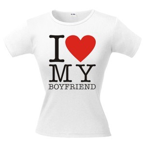 Футболка I love my Boyfriend