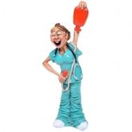 Керамическая статуэтка «Медсестра»