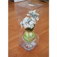Денежное дерево в бокале 100 долларов