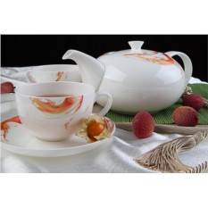 Чайный фарфоровый сервиз Фиеста на 13 предметов