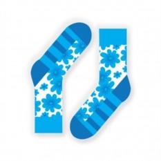 Бирюзовые дизайнерские носки Flowerheart