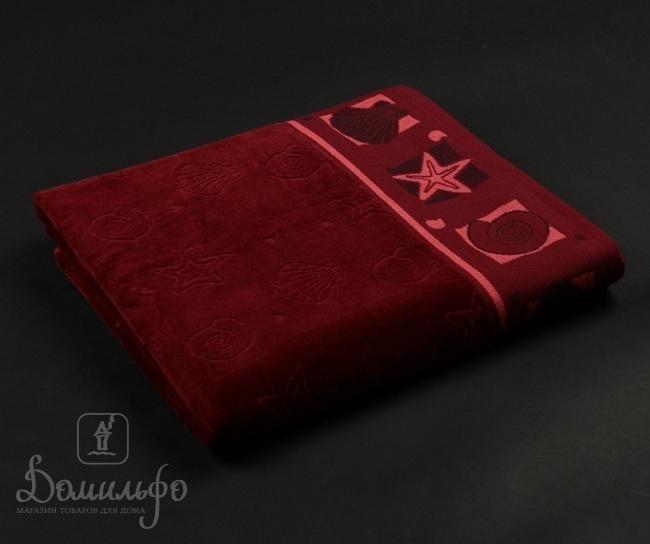 Полотенце Таск Шелл, бордовое, 70х140