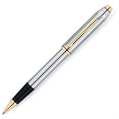 Ручка-роллер Selectip Cross Townsend серебристая с отделкой