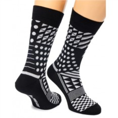Черно-белые носки Geometric Friday