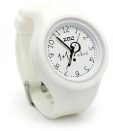 Белые часы Arithmetic