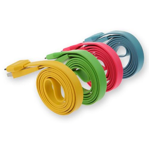 USB-кабель для iPhone 5 / iPad 4 (бел., зел., кр., чер.)