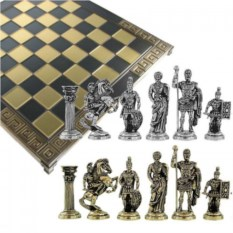 Металлические шахматы Античный Рим