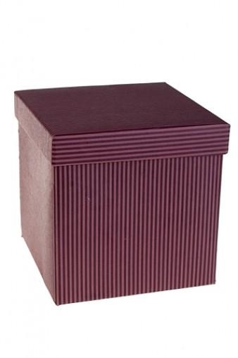 Коробка подарочная Элегант фиолетовая 15.2*15.2*15.2см