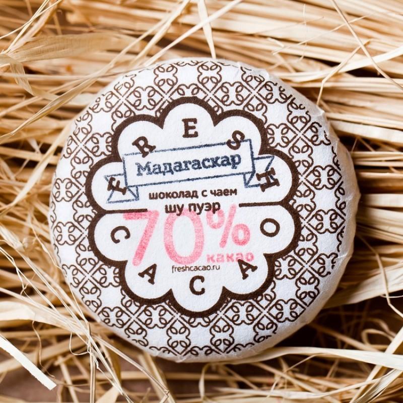 Плитка чайного шоколада Шу Пу Эр (50 гр.)