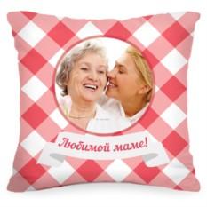 Подушка с Вашим фото «В клеточку»