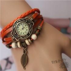 Кожаные часы-браслет Феникс