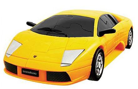 3Д пазл Ламборджини (желтый, собранный)