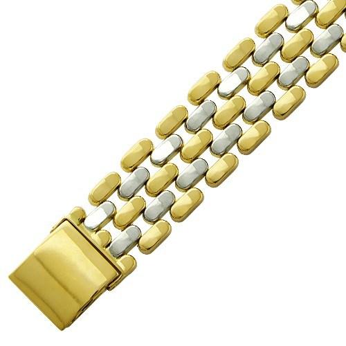 Браслет из комбинированного золота 585 пробы