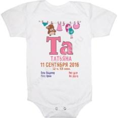 Детское с именем и датой рождения на заказ