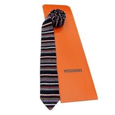 Модный узкий вязаный галстук Missoni