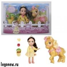 Кукла Принцессы Дисней. Малышка с конем (15 см)